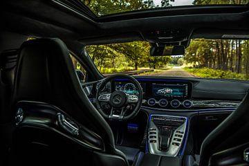 Interieur van de Mercedes-Benz AMG GT 63 van Bas Fransen