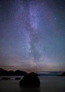 De Melkweg over Haukland Beach
