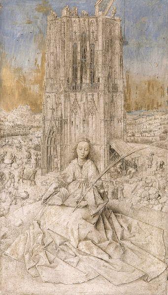 Heilige Barbara, Jan van Eyck von Meesterlijcke Meesters