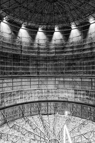 silo met lichtpunten