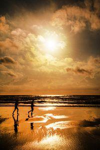 Joggen op t strand