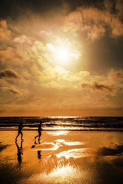 Joggen op t strand van Harrie Muis