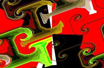 Abstrakte spiralen sur Rosi Lorz