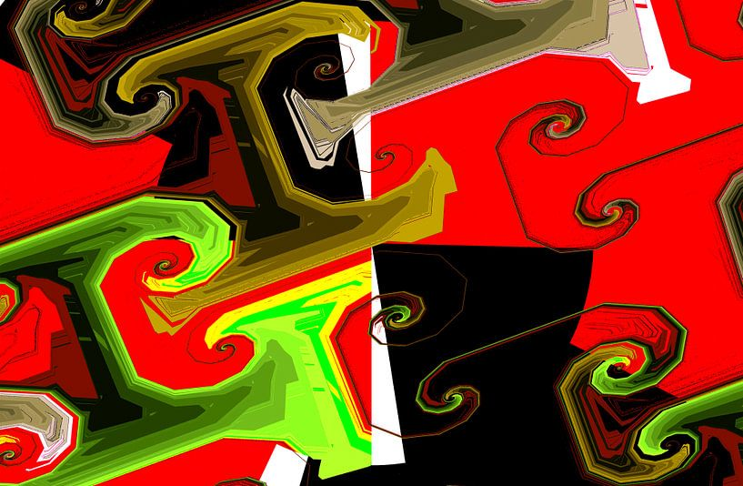 Abstrakte spiralen van Rosi Lorz