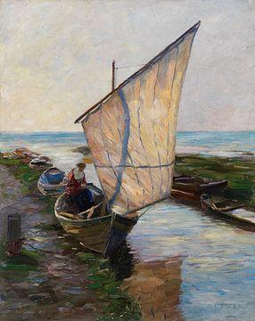 Segelboot, Holland, ALEXANDER KOESTER, 1902 von Atelier Liesjes