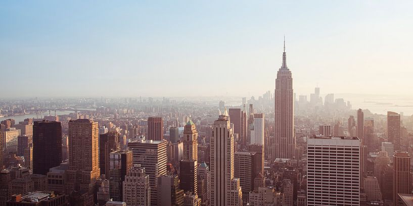 New York Panorama VI van Jesse Kraal