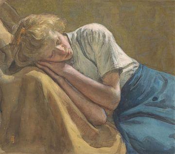 Rustend meisje, Johan Antonie de Jonge