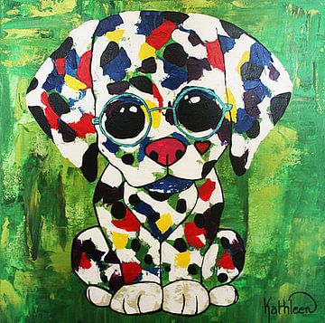 PUPPY HOND van Kathleen Artist Fine Art