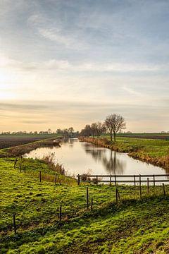 Malerisches Bild eines niederländischen Polders bei Heerjansdam von Ruud Morijn