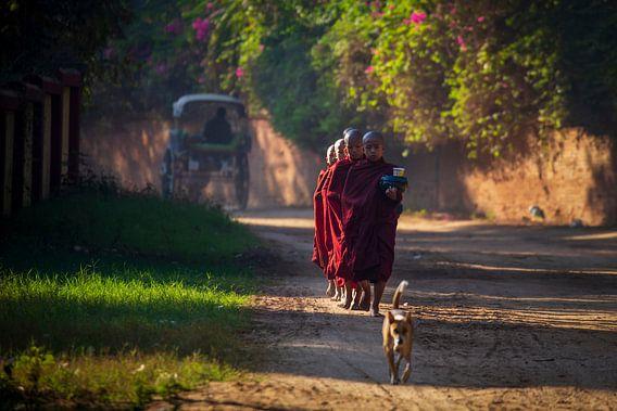 Monniken halen voedsel