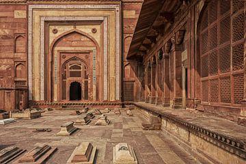 Fatehpur Sikri, Inde. Vue de la tombe de Salim Chishti, Porte Buland sur Tjeerd Kruse