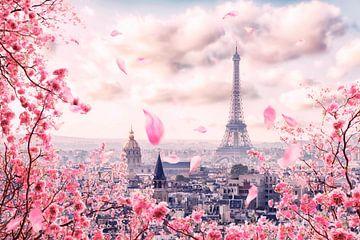 Parijs in roze van Manjik Pictures