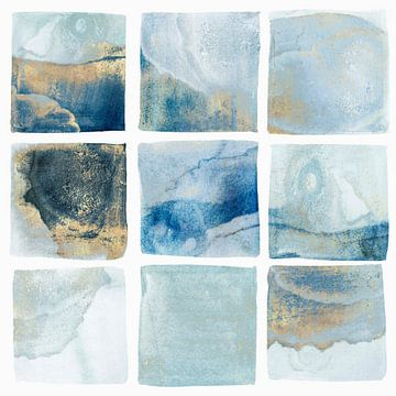 Indigo Squares I, Isabelle Z  von PI Creative Art