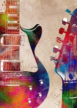 Gitaar 5 muziekkunst #gitaar #muziek van JBJart Justyna Jaszke