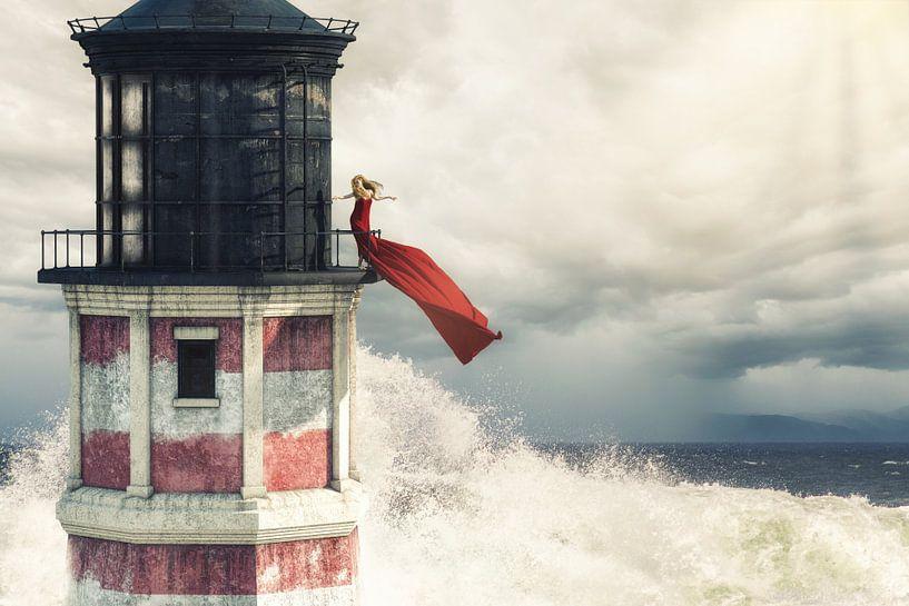 Roter Leuchtturm von Arjen Roos
