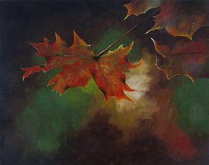 """Impressionistisch schilderij """"Herfstblaadjes"""" van"""