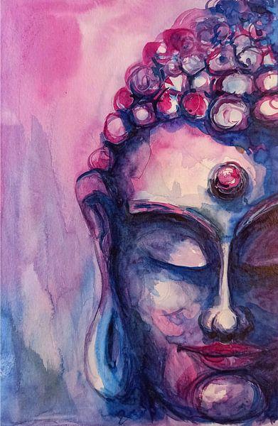 Boeddha paars 05032021 van Michael Ladenthin