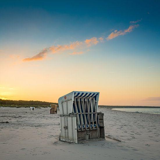 Strandkorb aan de Oostzee