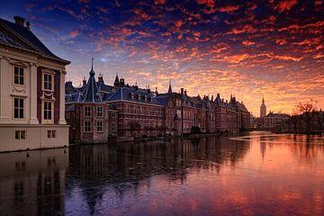 avondrood boven de Haagse Hofvijver sur gaps photography