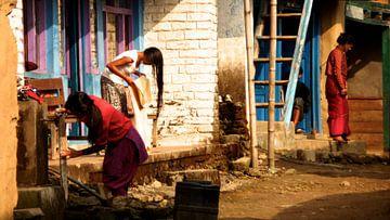 'Ochtendritueel', Bahundanda- Nepal van