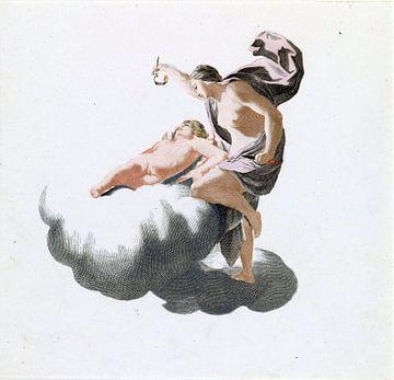 Amor en Psyche, Simon Vouet, supervisie Johan Teyler, 1688-1698 van Atelier Liesjes
