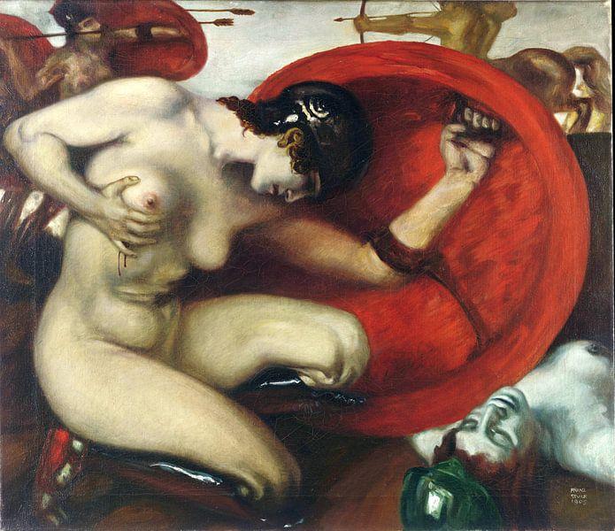 Verwundete Reiterin, Franz von Stuck, 1905 von Atelier Liesjes