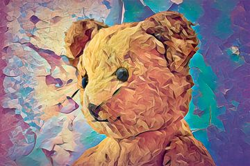 Teddybeer uit de 60-er jaren van Rietje Bulthuis