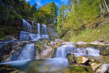 Weißbachwasserfall im Chiemgau im Herbst von Christian Peters
