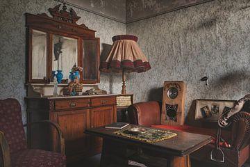 Salon avec antiquités sur