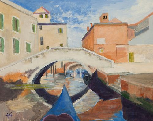 Canal de Venetië van Antonie van Gelder Beeldend kunstenaar