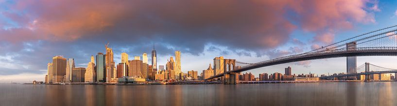 Manhattan Skyline, New York van Remco Piet