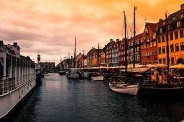 Kopenhagen, Nyhavn van Helga van de Kar