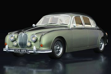 Jaguar MK-2 vue trois quarts