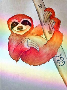 Slothy in love von Iwona Sdunek alias ANOWI