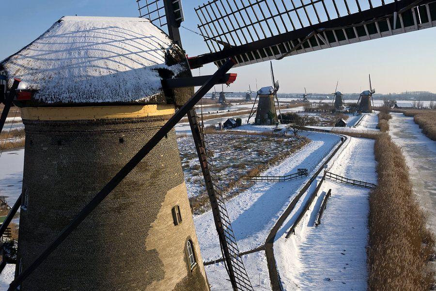 Windmolen bij Kinderdijk van Hans Elbers