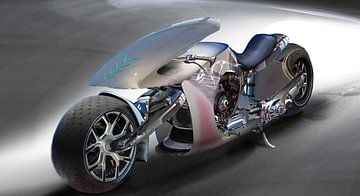 Futuristische Motor, fantasie van Atelier Liesjes