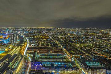 Avond Skyline van Den Haag van Freddie de Roeck