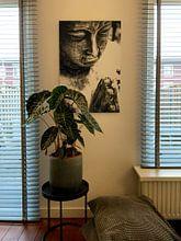 Klantfoto: Boeddha van Jacqueline Lodder, op aluminium
