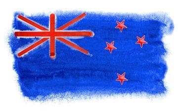Symbolische nationale vlag van Nieuw-Zeeland van Achim Prill