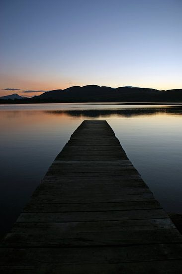 Sunset at Lake of Menteith van Jeroen van Deel