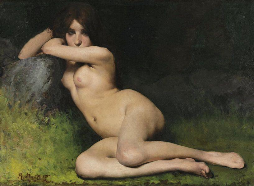 Studie für Aktmodell Marabá, Rodolfo Amoedo, 1882 von Atelier Liesjes