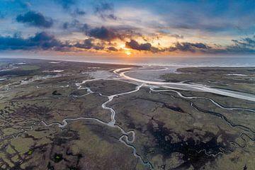 Slufter Texel Sonnenuntergang von Texel360Fotografie Richard Heerschap