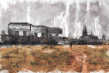 Köln Panorama Artstyle von Michael Bartsch