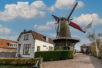 Windmühle der Windotter in IJsselstein von Peter Bontan Fotografie