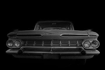 Fifties Chevrolet in zwartwit van Humphry Jacobs