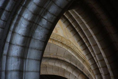 Detail van kerk