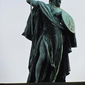 Statue in Antwerpen stad von Nicky`s Prints