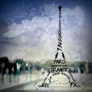 Digital-Art PARIS Eiffel Tower No.1