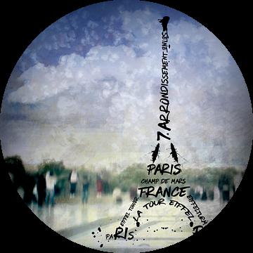 Digital-Art PARIS Eiffel Tower No.1 van Melanie Viola