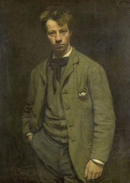 Portret van Albert Verwey, Jan Veth sur